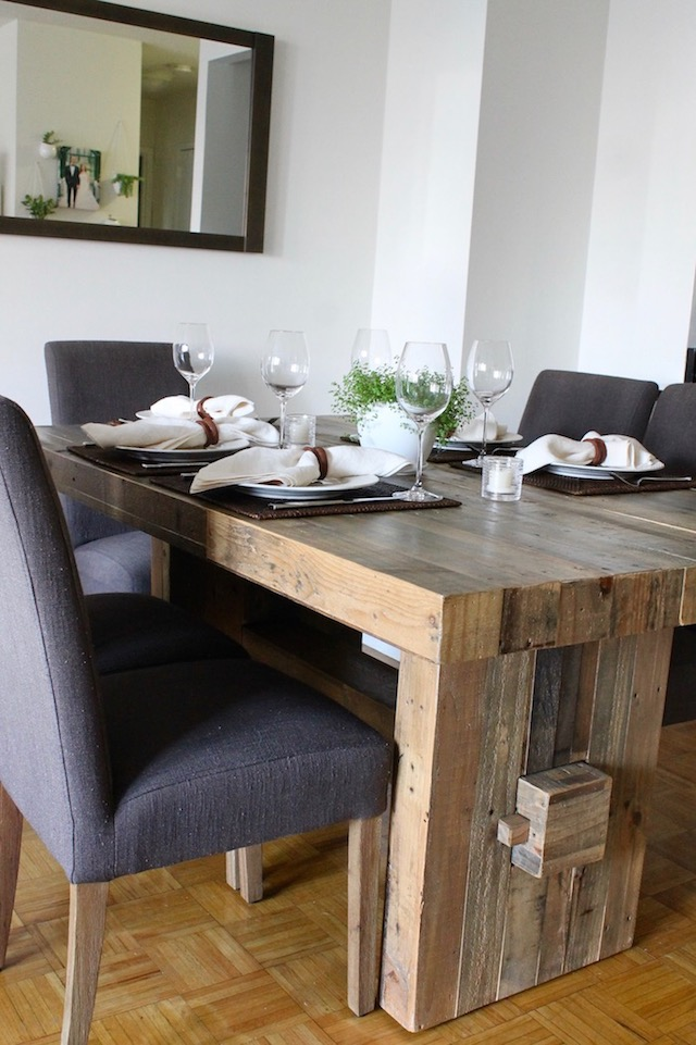 NYC Apartment West Elm Emmerson Dining Table