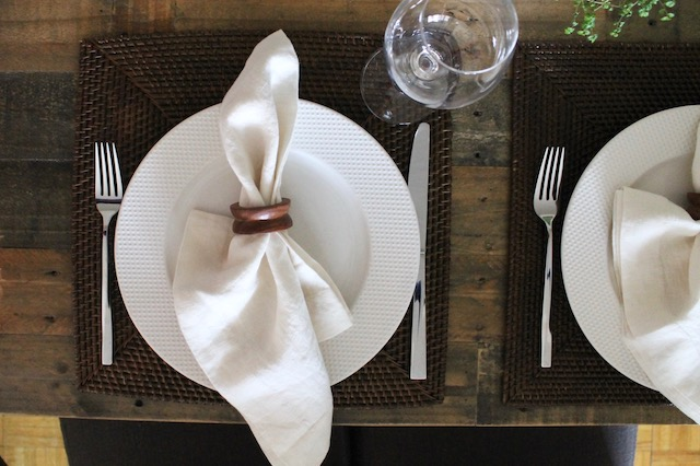 West Elm Emmerson Dining Table Place Setting