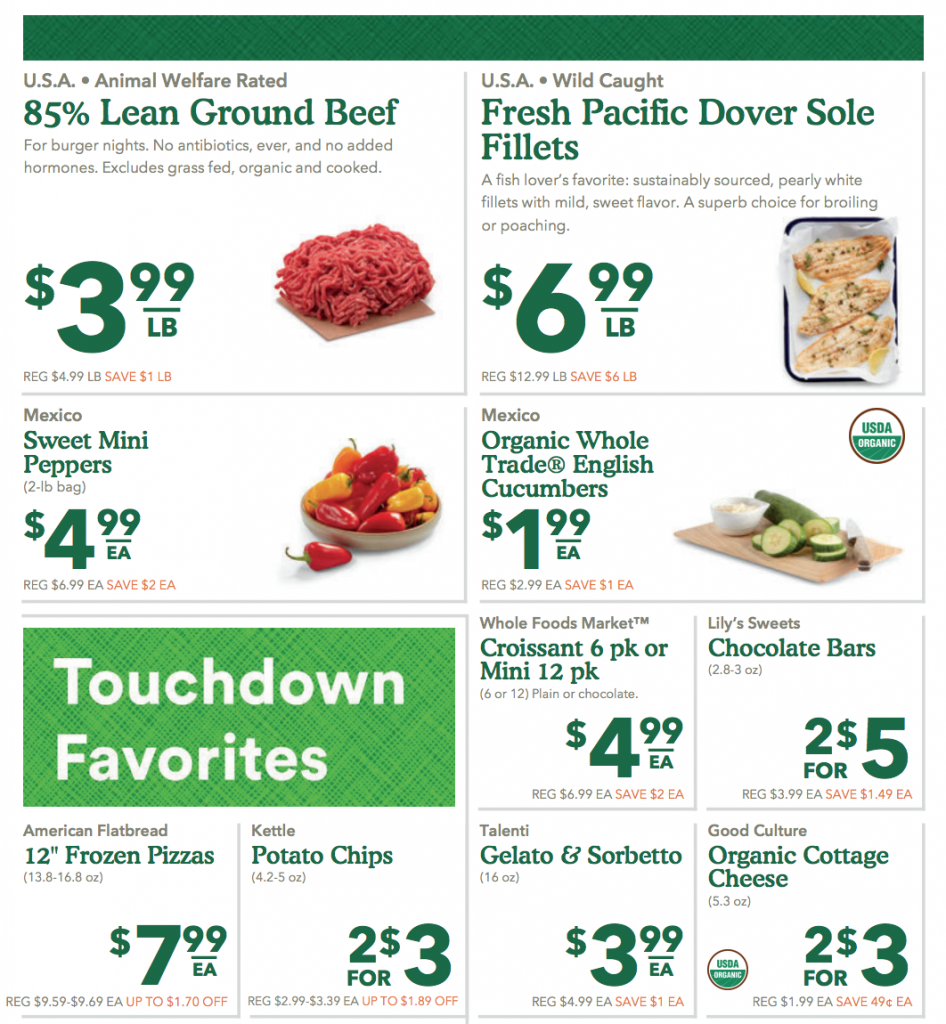 Whole Foods Sales Flyer