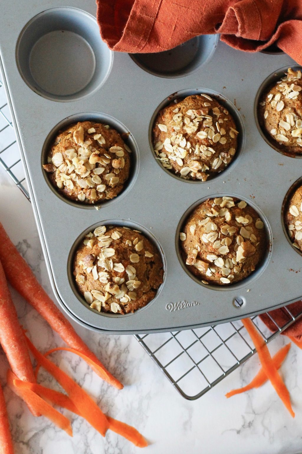 Whole Wheat Carrot Muffins with Walnuts | www.littlechefbigappetite.com 1