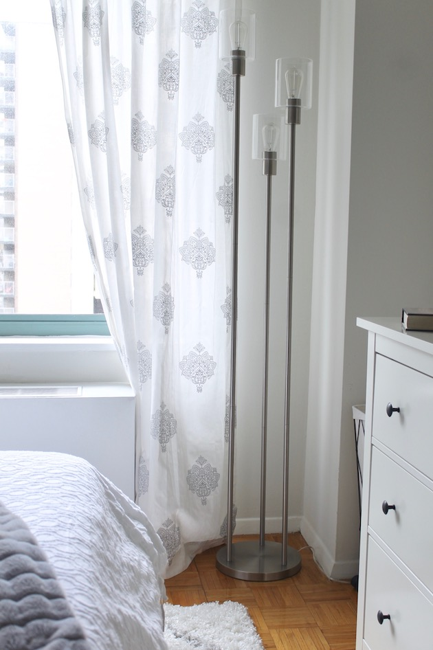 Creating an Ultra-Cozy Bedroom: White and Gray Window Curtains ll www.littlechefbigappetite.com