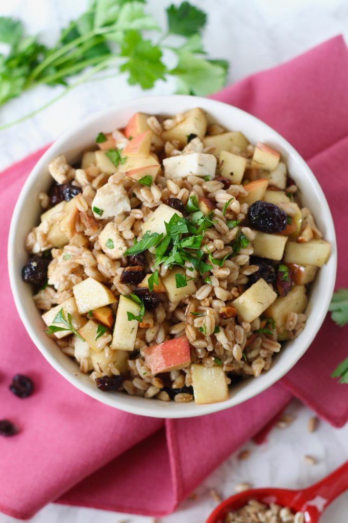 Farro Salad with Apples and Mozzarella ll www.littlechefbigappetite.com