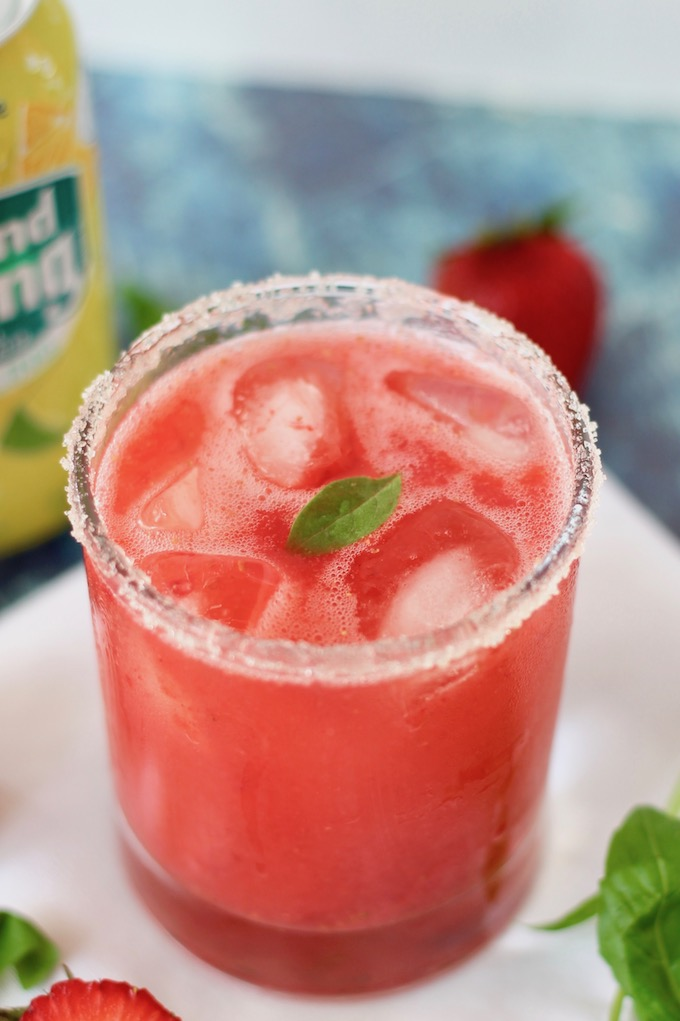 Sparkling Strawberry Basil Mocktail Recipe | www.littlechefbigappetite.com 6