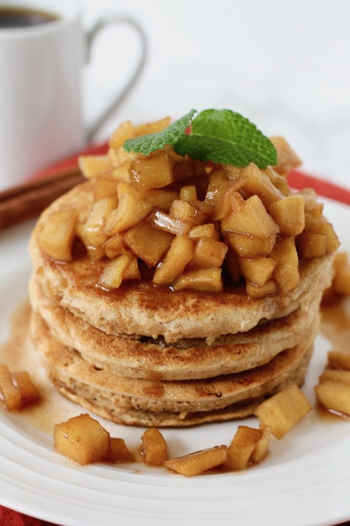 Whole Wheat Apple Cinnamon Pancakes | www.littlechefbigappetite.com