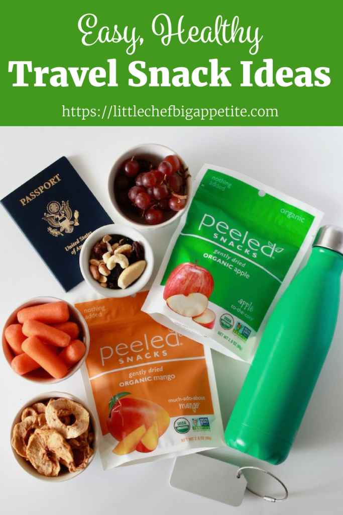 Healthy Travel Snacks | www.littlechefbigappetite.com Pinterest