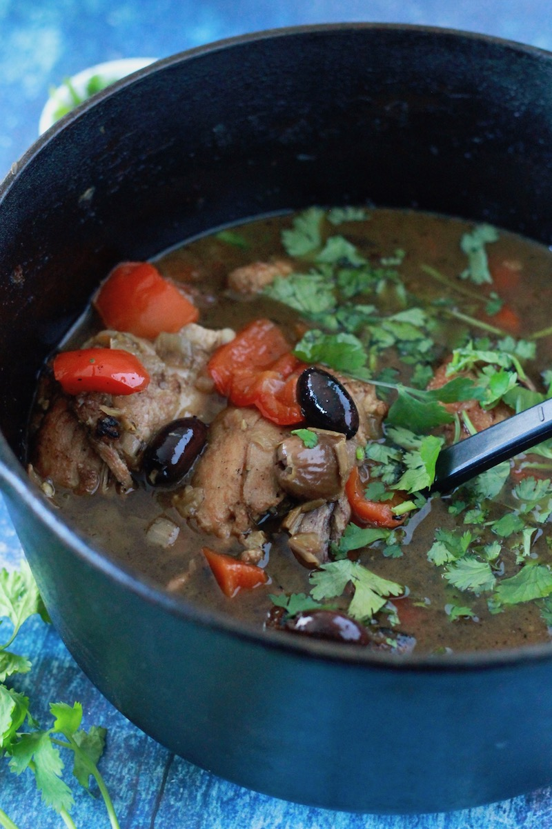 Moroccan Chicken Stew with Dates and Olives | www.littlechefbigappetite.com 4