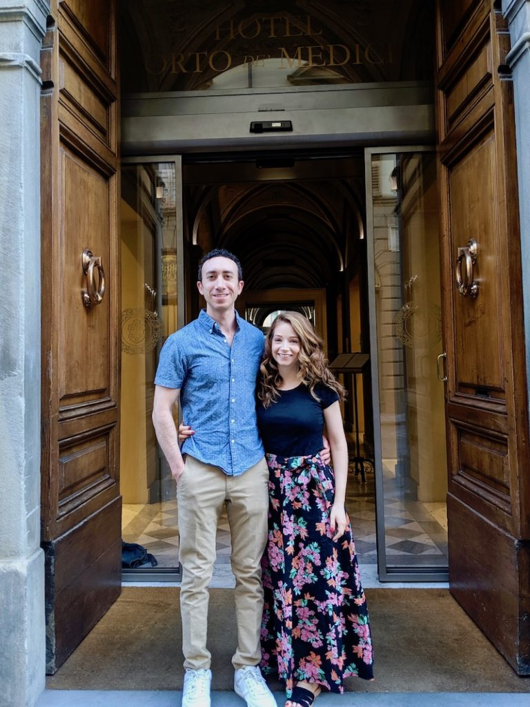 Rachel and Travis in Florence| littlechefbigappetite.com